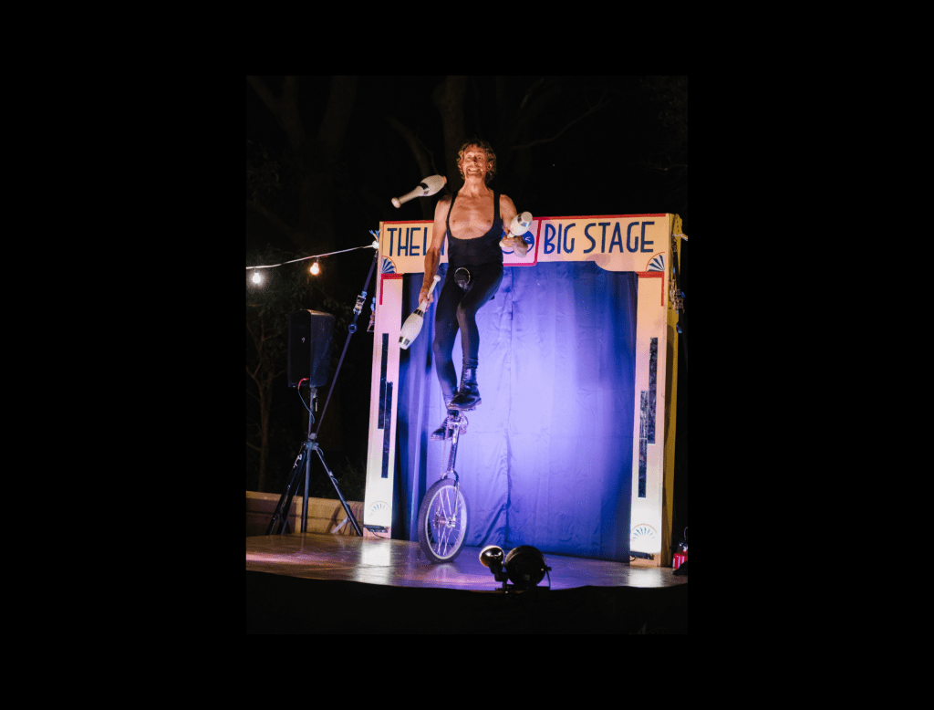 Stage Show in Unicycle & Juggling